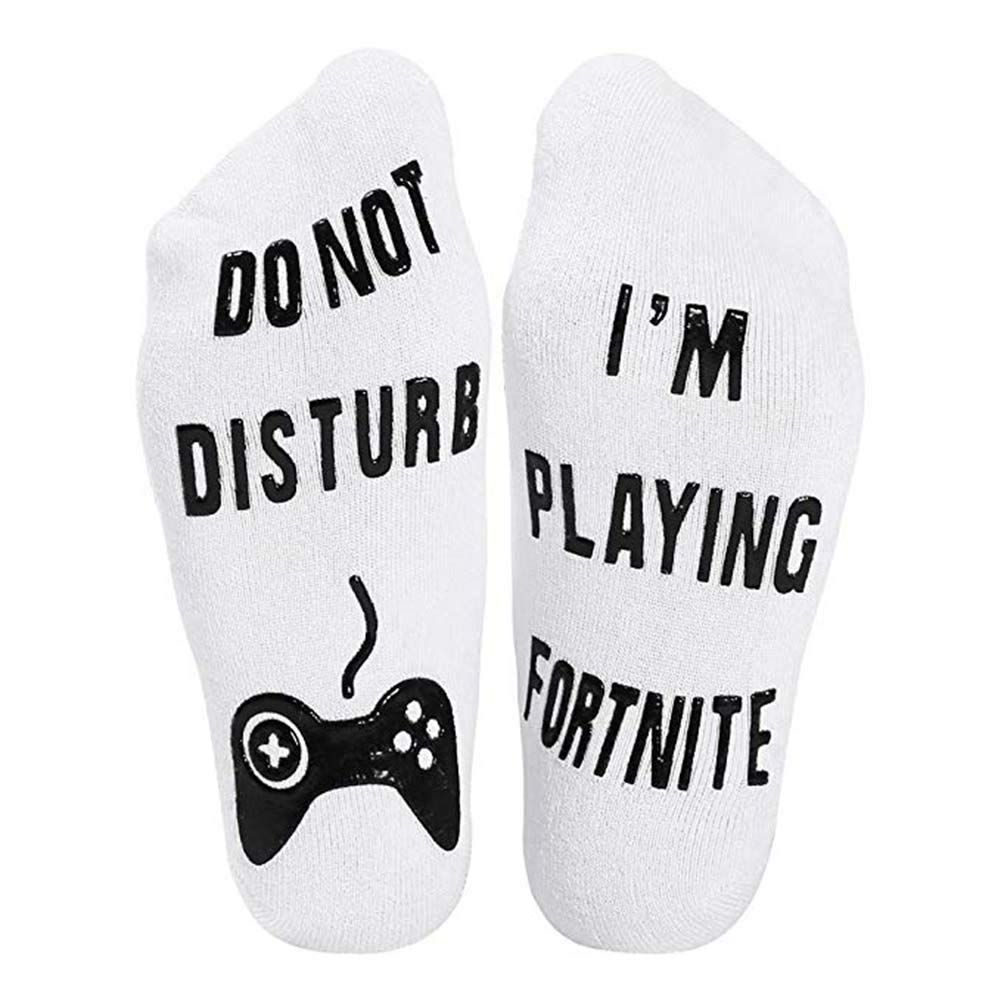 QlanDo Not Disturb, I'm Playing Fortnite Funny Ankle Socks For Game Lovers QlanDo Not Disturb