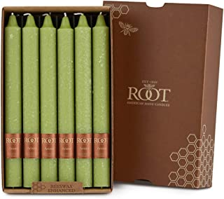 product image for Root Candles Unscented Arista Timberline 9-Inch Dinner Candles, 12-Count, Willow