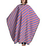 Salon Hair Cutting Cape, Professional Barber Hairdresser Gown Waterproof Polyester Long Makeup Apron with Snap Closure for Adult Shampoo Stylist 63'' X 55''