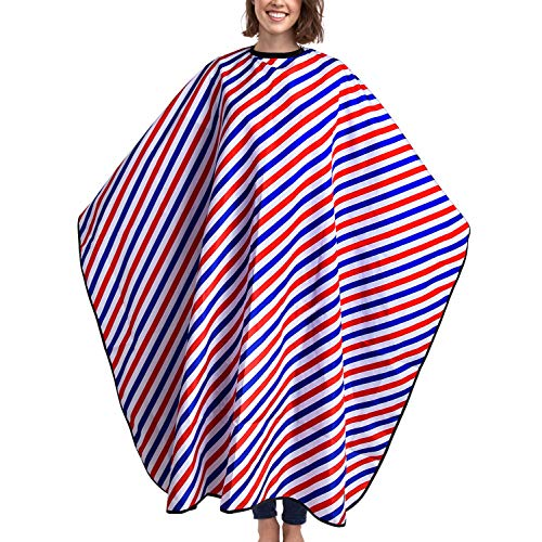 Salon Hair Cutting Cape, Professional Barber Hairdresser Gown Waterproof Polyester Long Makeup Apron with Snap Closure for Adult Shampoo Stylist 63'' X 55'' by Noverlife