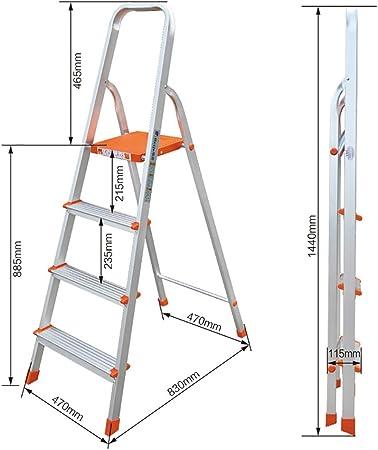 RKY Escalera Plegable de Aluminio del Taburete del Paso Grande para los Adultos Escalera portátil al Aire Libre/Escalera de Tijera/Estante del Almacenamiento/Estante de la Flor Taburete /-/: Amazon.es: Hogar