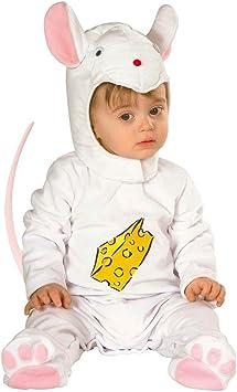 Disfraz bebé ratón de colour blanco de vestuario - Rosa 90 cm ...