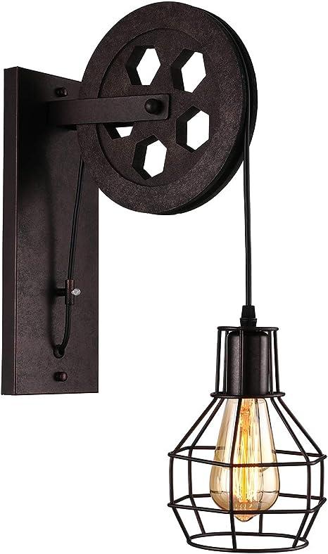 Vintage industrial pulley light