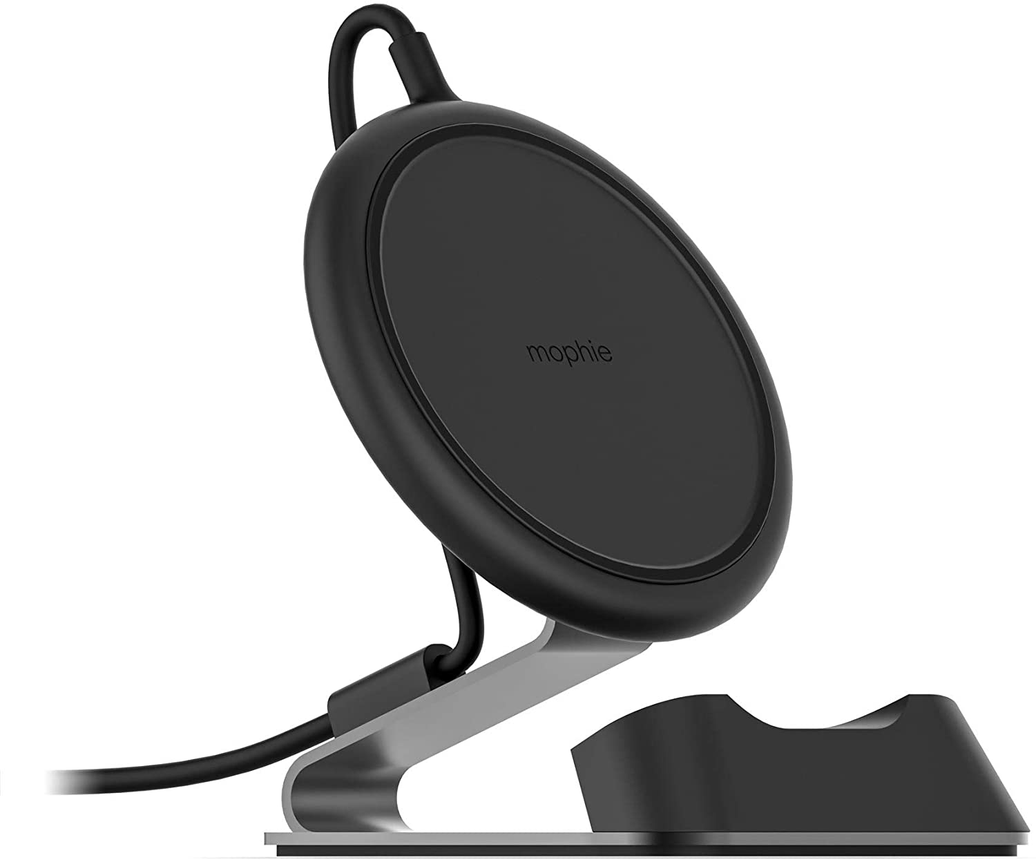 mophie Charge Stream Desk Stand Made for Apple iPhone Xs/X, iPhone Xs Max, iPhone XR, iPhone 8 Plus, iPhone 8, Samsung, and Other Qi-Enabled Devices - Black