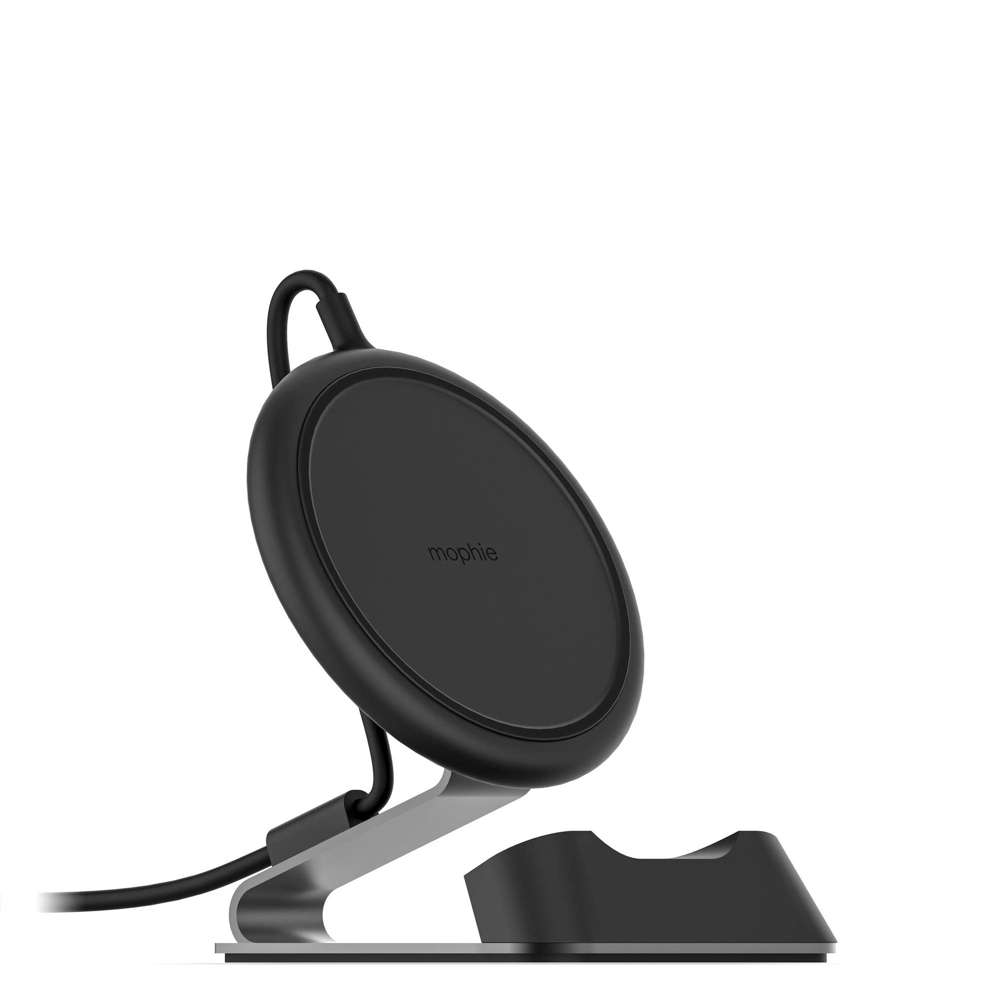 mophie Charge Stream Desk Stand Made for Apple iPhone Xs/X, iPhone Xs Max, iPhone XR, iPhone 8 Plus, iPhone 8, Samsung, and Other Qi-Enabled Devices - Black by mophie