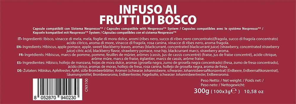 Note DEspresso Red Forrest Fruit Infusion 3/g x 100 Kapseln Kapseln kompatibel mit Nespresso
