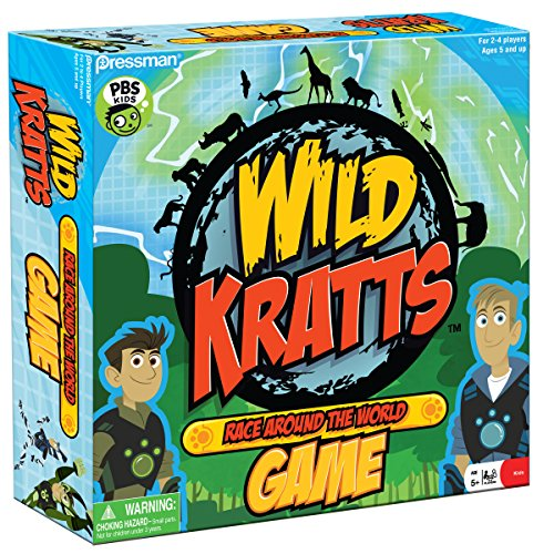 Pressman Wild Kratts Race Around The World Board Game]()
