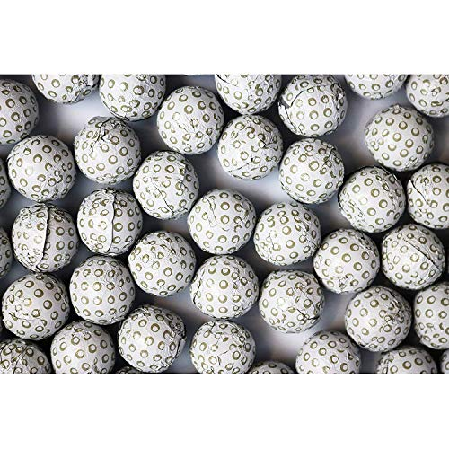 FirstChoiceCandy Chocolate Golf Balls Foil Wrapped 2 Pound Resealable Bag