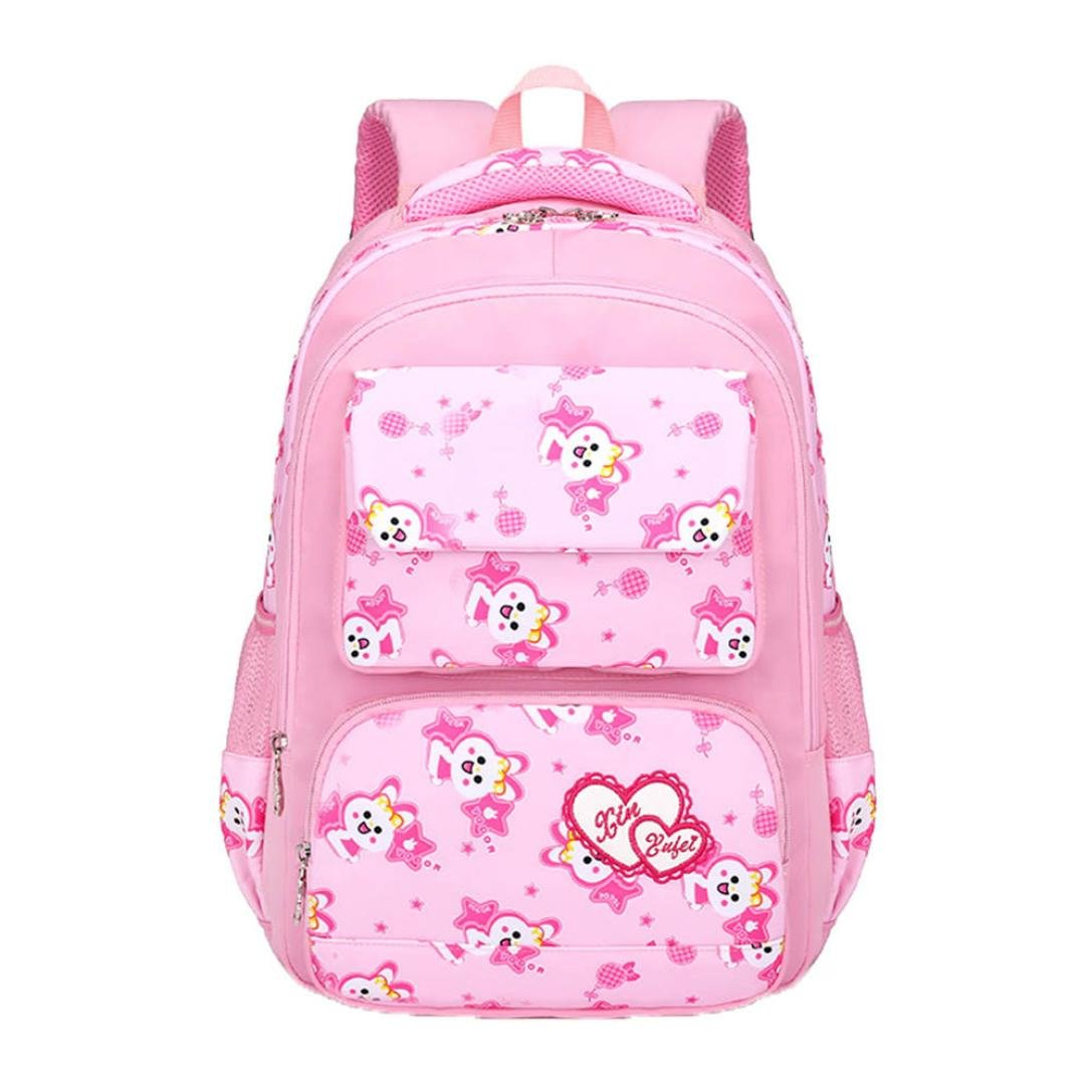 lotus.flower Cartoon Animal Backpack Leisure Nylon Cute Rabbit Print Student Bag Foldable Shoulder Bag Toddler School Lightweight for Children Baby Girls Boys Kids (Pink)