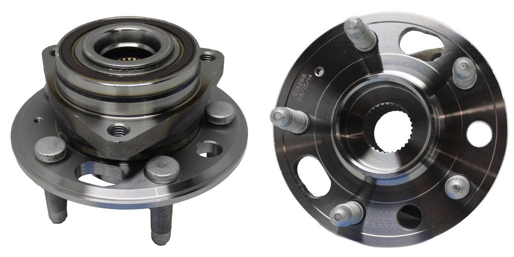 Detroit Axle Both (2) New Front Driver & Passenger Side Complete Wheel Hub and Bearing Assembly - 5-Lug