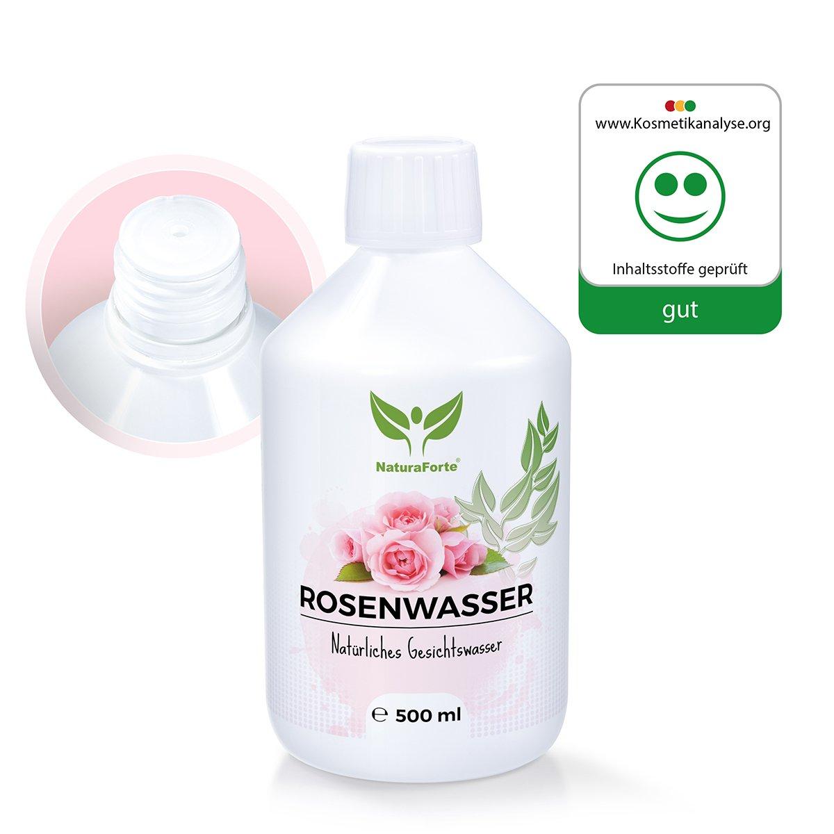 Agua de Rosas 100% Natural y Sin Alcohol para el Rostro y Cuerpo (500ml