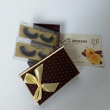 9e330680d51 Thick Eyelashes 3D Mink Fur Easy Eye Lash Handmade 2 Pairs In A Box False  Fake