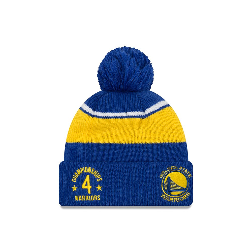 d52b6b45751 Amazon.com   Golden State Warriors New Era Call Out Cuff Pom Knit Beanie Hat    Cap   Sports   Outdoors