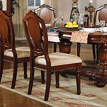 ACME 11833A Set Of 2 Classique Side Chair Cherry Finish