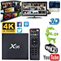 [2018 Edition V17.6] Android 6.0 Amlogic S905X Quad Core 1GB DDR 8GB 4K 3D WiFi Internet Media Streaming Player X96 Smart TV Box