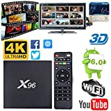 quad core android fully loaded - [2018 Edition V17.6] Android 6.0 Amlogic S905X Quad Core 1GB DDR 8GB 4K 3D WiFi Internet Media Streaming Player X96 Smart TV Box