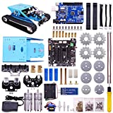 Yahboom Tank Robot Kit for Arduino Programmable Robotics with UNO R3 Electronic Project Learning with C Language & Graphical Programming Course Track Robot for Kids and Adults