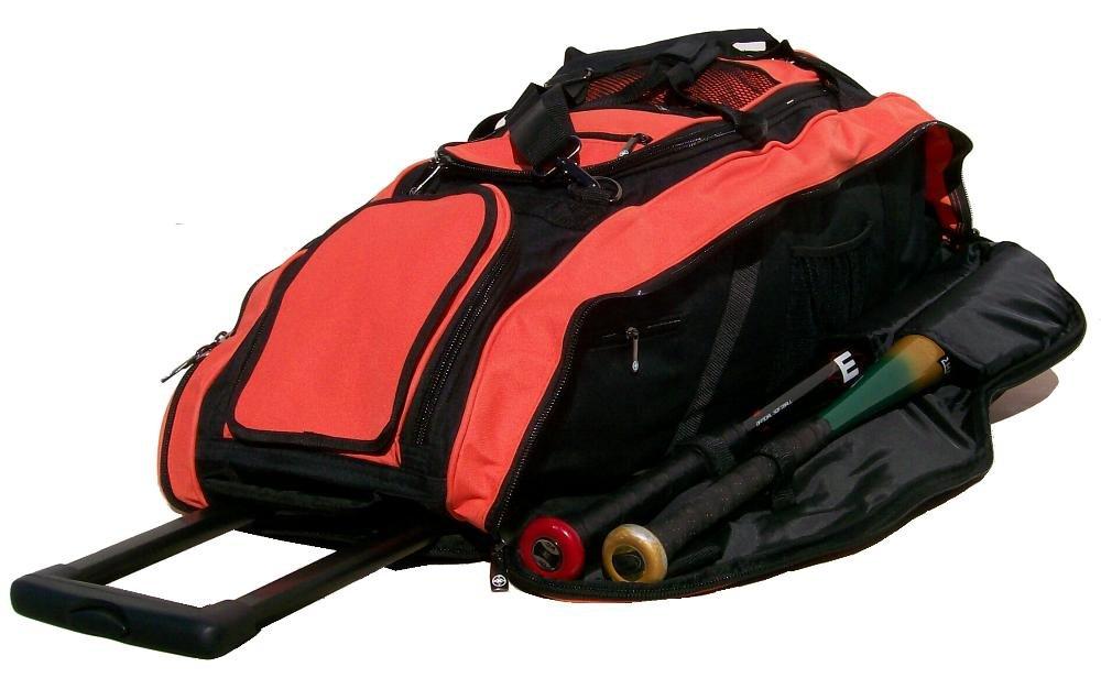ブラックandオレンジCobra RTS野球ソフトボール機器ローラーBatバッグBKOR RTS B01CISETRQ