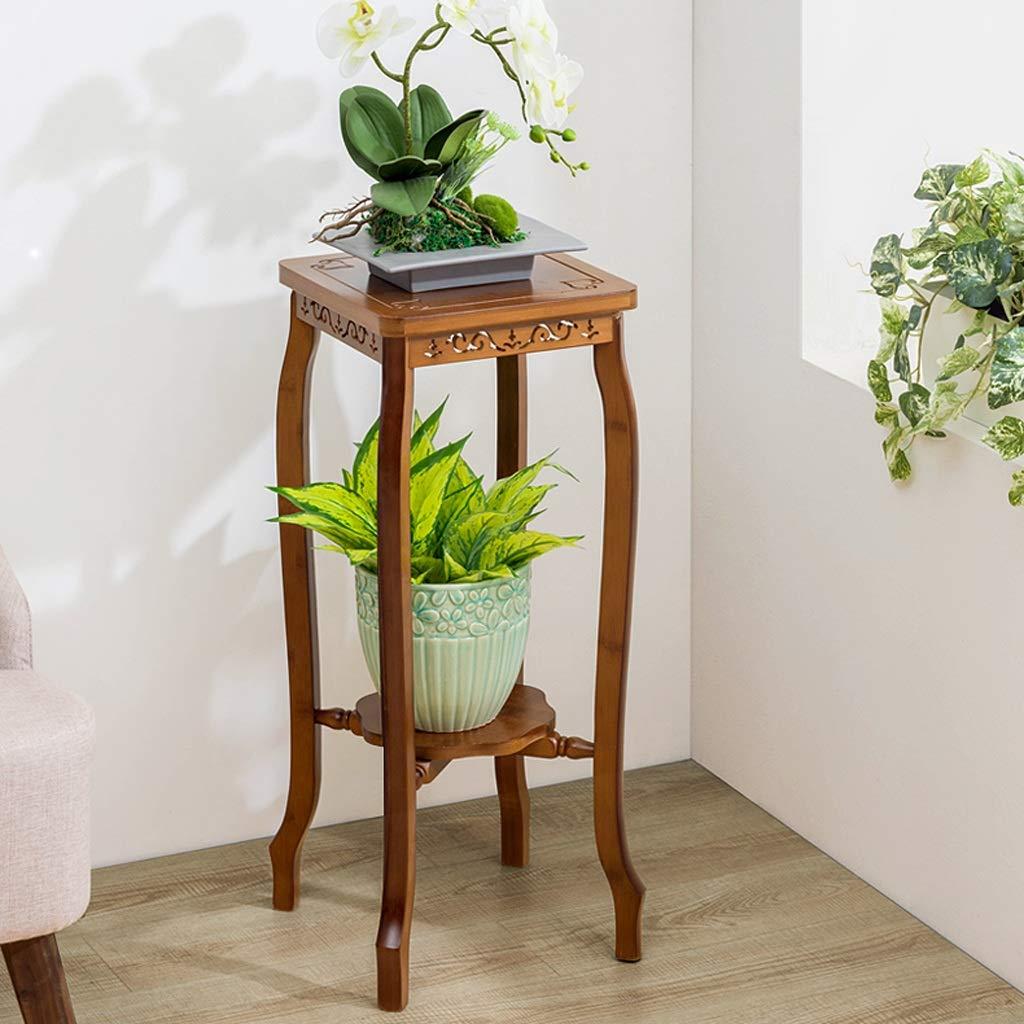 Plant Stand - Materiali in Legno, 2 Tiers Flower Shelf Multilayer Tipo di Pavimento Indoor As Flower Espositore Portaposate (Dimensioni   S.)