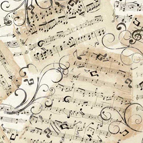 (Timeless Treasures Fabrics Natural Music Novelty Music Sheets)