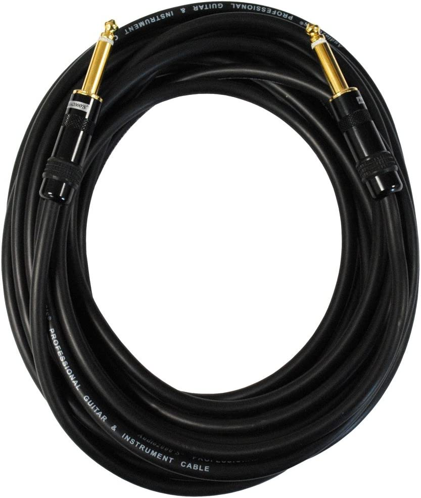 """Audio2000/'s C09001 1 Ft 1//4/"""" TS to TS Patch Cable"""