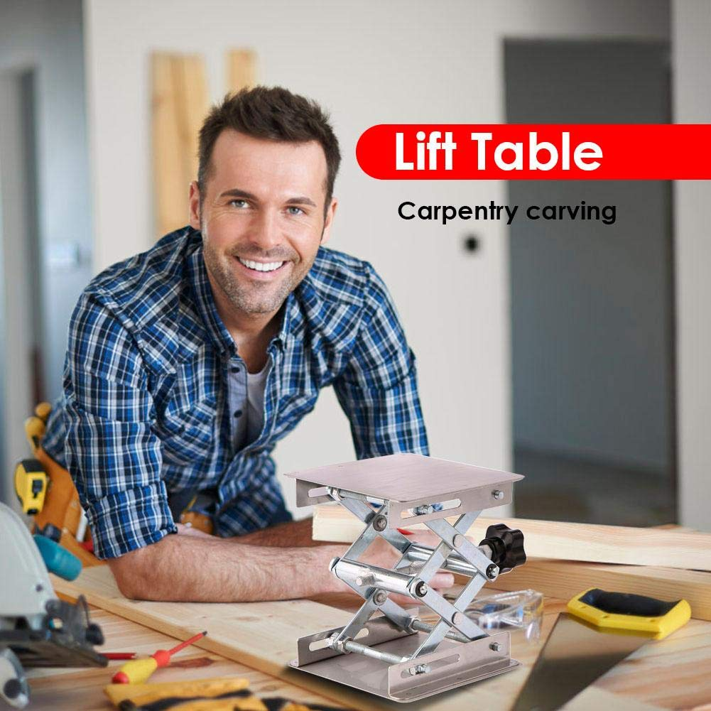 Lifting Stand Rack, Aluminum Router Lift Table Woodworking Engraving Lab Lifting Stand Rack by ttnight (Image #2)