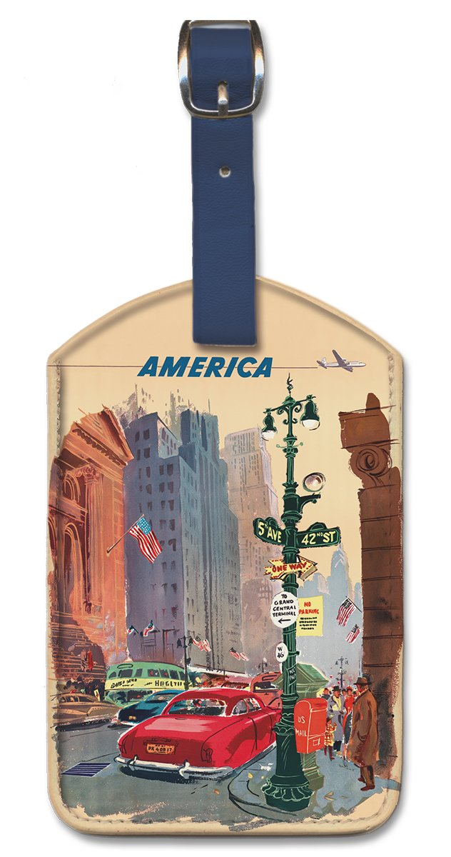 Pacifica Island Art Leatherette Luggage Baggage Tag America by K Howland