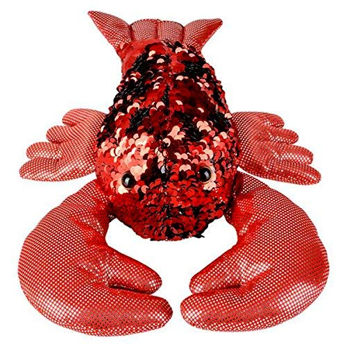(Sequinimals Sequin Plush Lobster~Adorable Stuffed Animal by Reversible Sequins Red to Black)