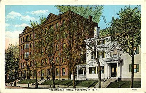 (Street View of Rockingham Hotel Portsmouth, New Hampshire Original Vintage Postcard)