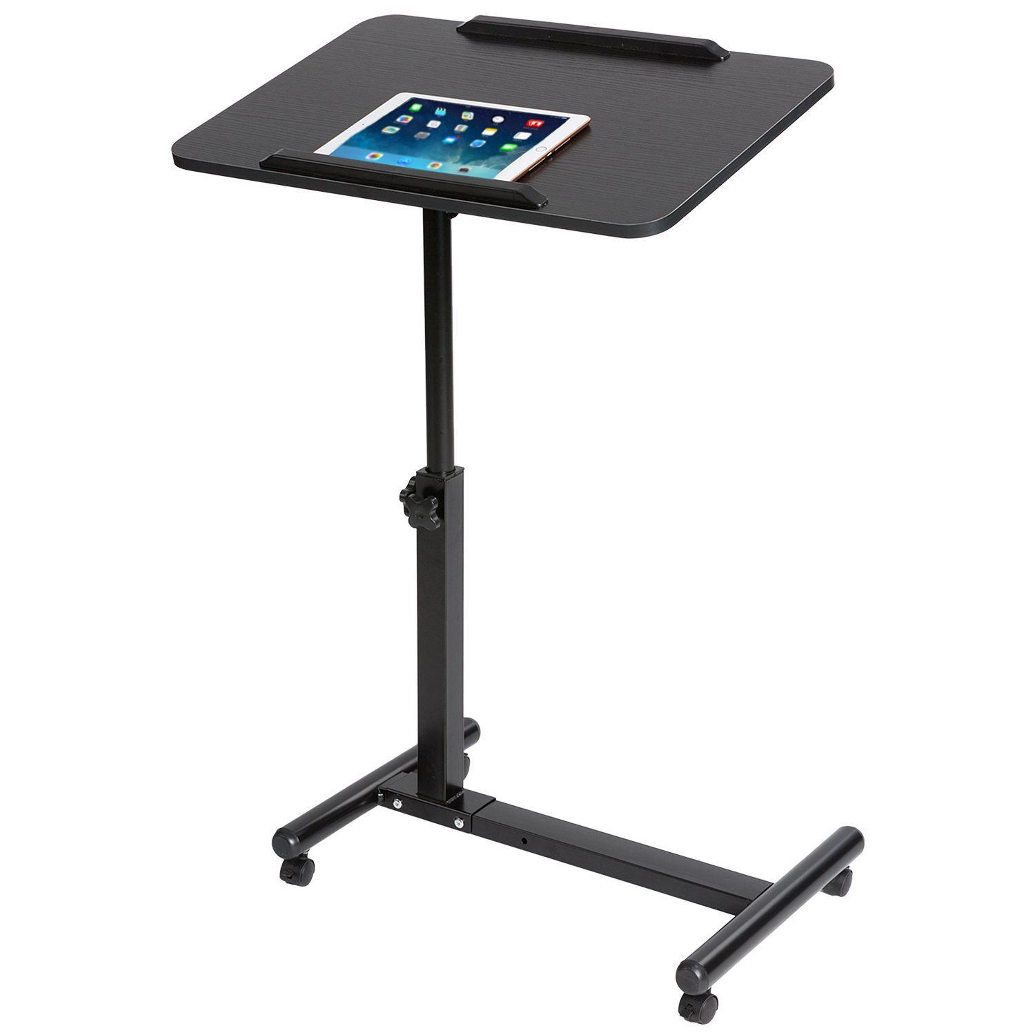 DOEWORKS Laptop Table Height Adjustable Laptop Stand,Moveable Notebook Stand,Black Tray Side