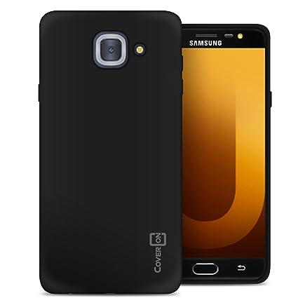 CoverON Slim Fit TPU Rubber FlexGuard Series for Samsung Galaxy J7 Max Case, Gloss Black
