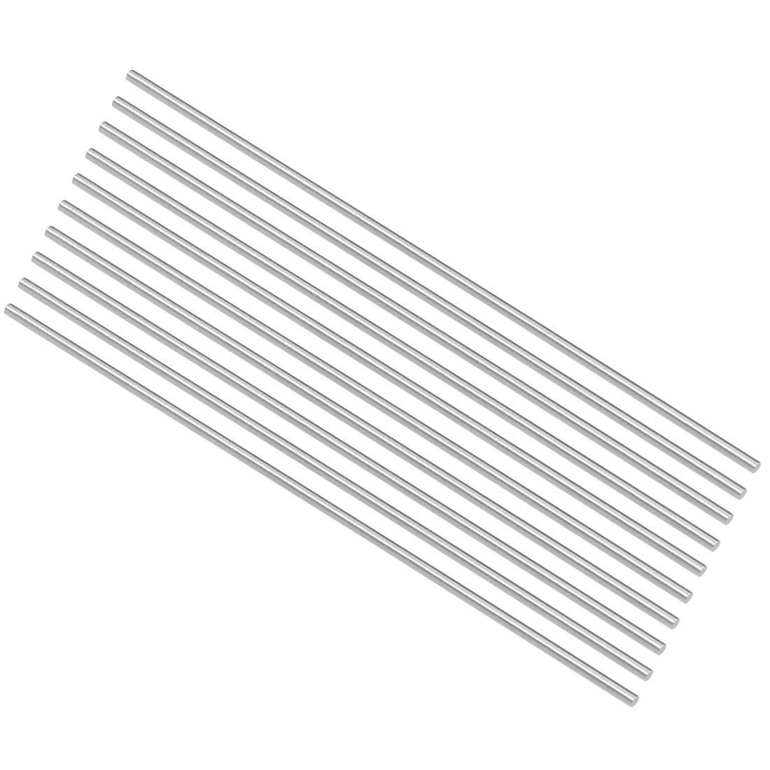 uxcell HSS Lathe Round Rod Solid Shaft Bar 2.9mm Dia 100mm Length 10Pcs