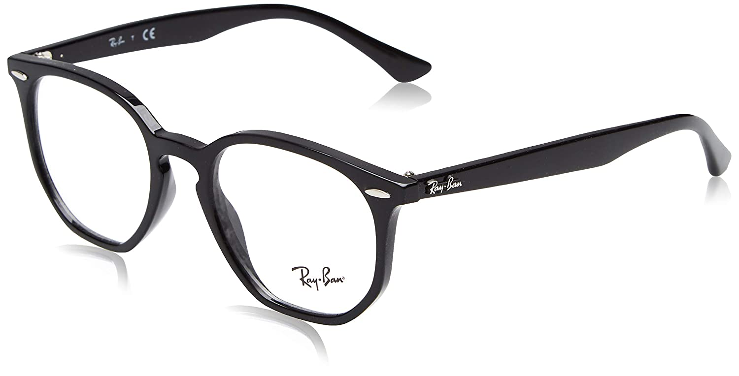 a5cabf92a2 Amazon.com  Ray-Ban Unisex RX7151 Eyeglasses Black 50mm  Clothing