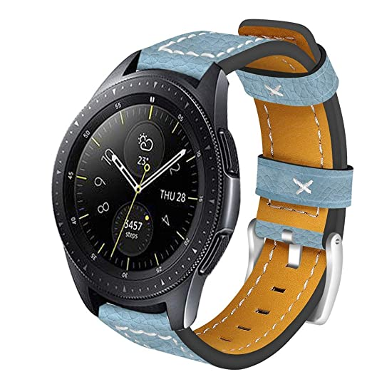 Samsung Galaxy Watch 46Mm Correa, Lanskirt Correa de Reloj de Muñeca Banda de Cuero Banda de Bien Parecido Hombre Pulsera Casual Correa de Repuesto para ...