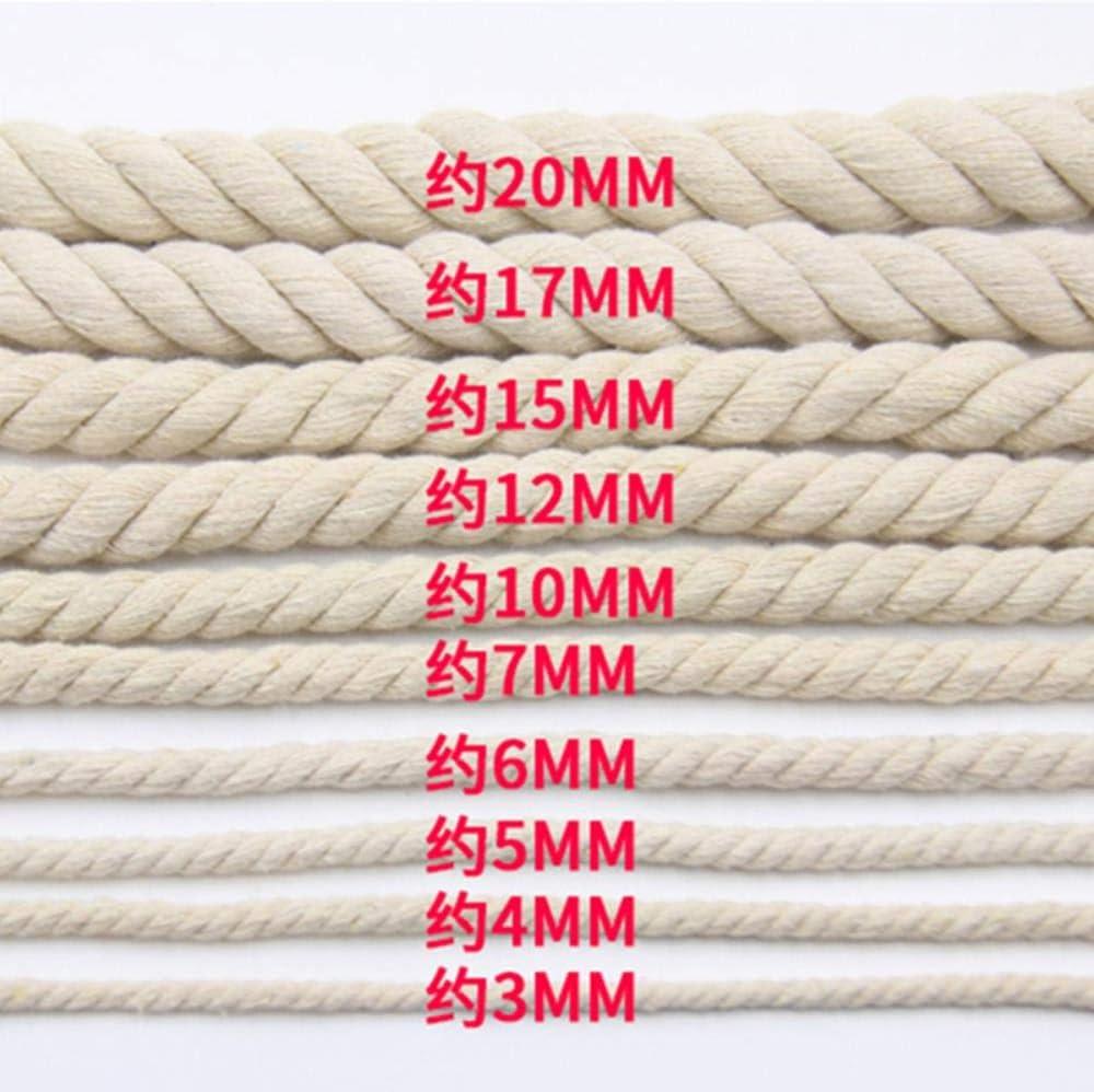 AOM Cuerdas de algodón Grueso de Cuerda de algodón Beige de 4 mm ...