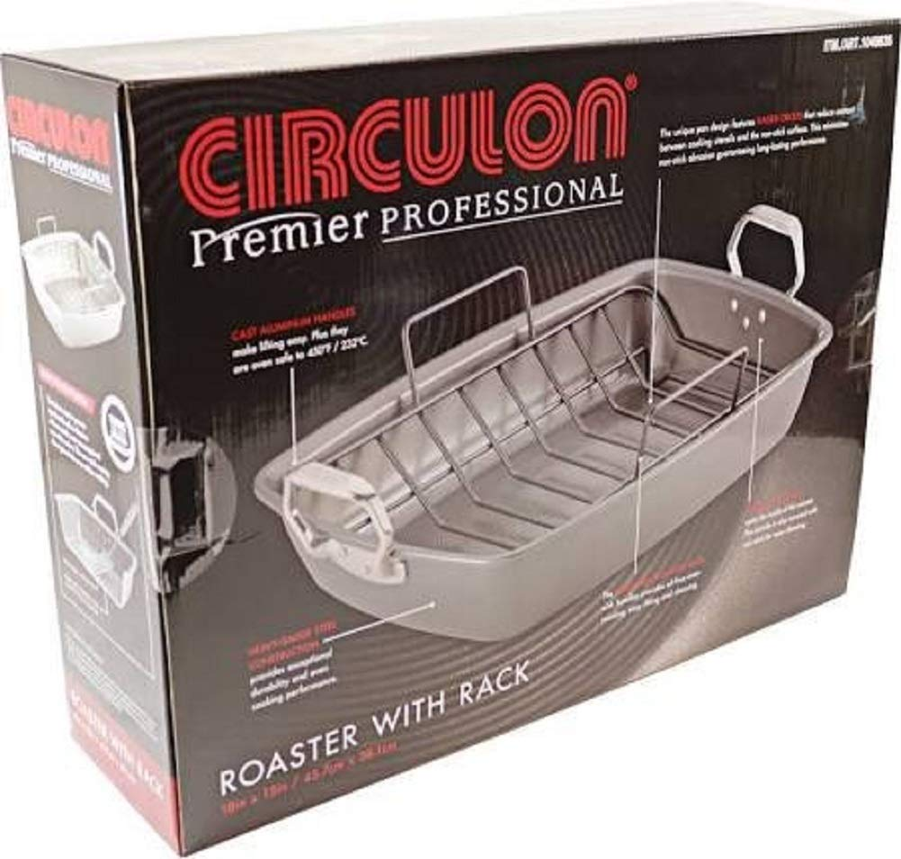 Circulon Premier Professional Roaster 18 X 15 with Rack