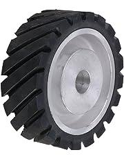 """Yibuy 6"""" Serrated Rubber Belt Grinder Sander Wheel for Cut Making Grinder"""