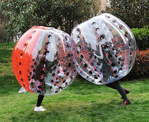AECOJOY 5ft Black Bumper Ball Bubble Soccer 1.5m Inflatable Human Knocker Football