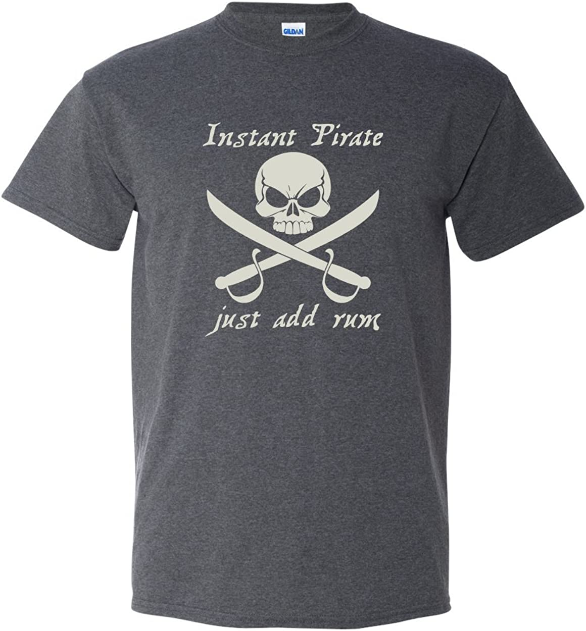 Thread Science Instant Pirate Rum Skull Bones Caribbean Cruise Drinking Funny Adult Men's T-Shirt