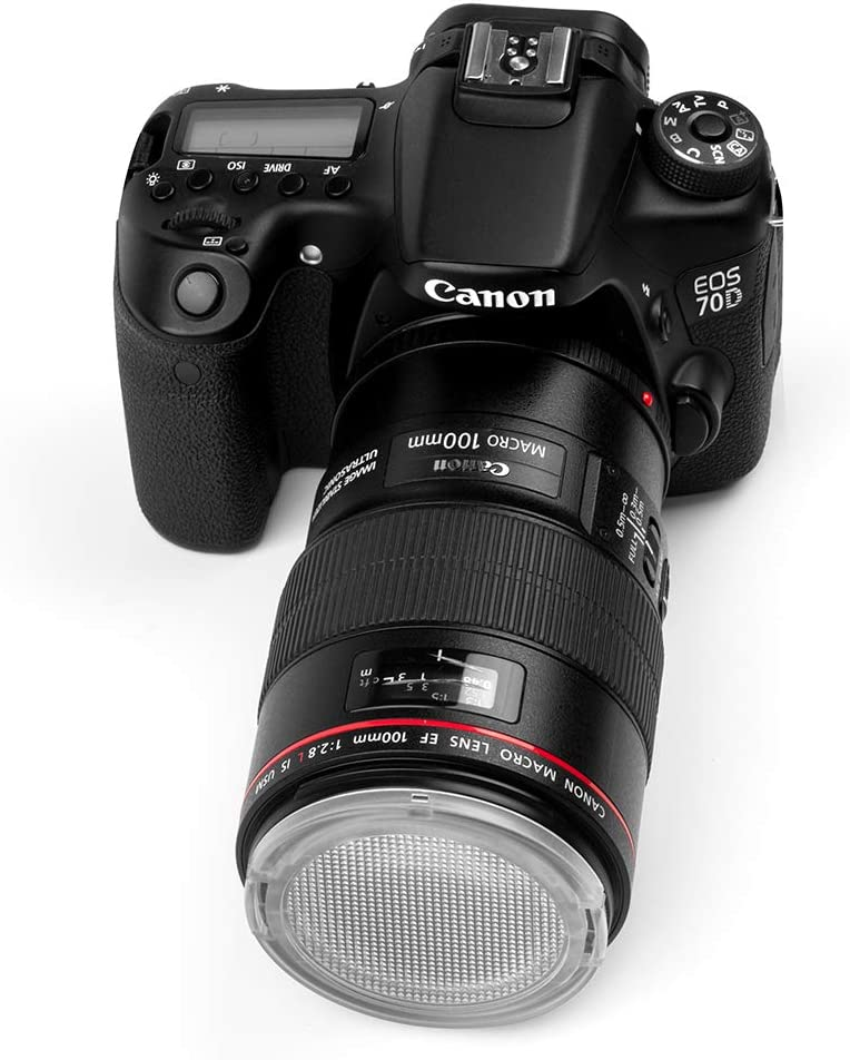 Fotover copriobiettivo trasparente universale Snap On Side Pinch anteriore copriobiettivo con centro Pinch copriobiettivo sostituzione per Canon Nikon Sony Olympus