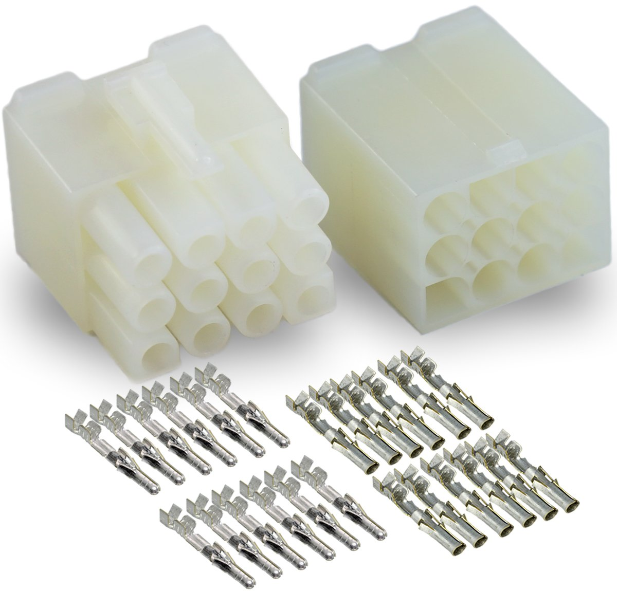 """1 Kit 12 Pin Way Circuit Male Female Connector For Molex 0.093/"""" .093/"""" Pins Plug"""