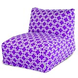 Majestic Home Goods Purple Links Bean Bag Chair Lounger