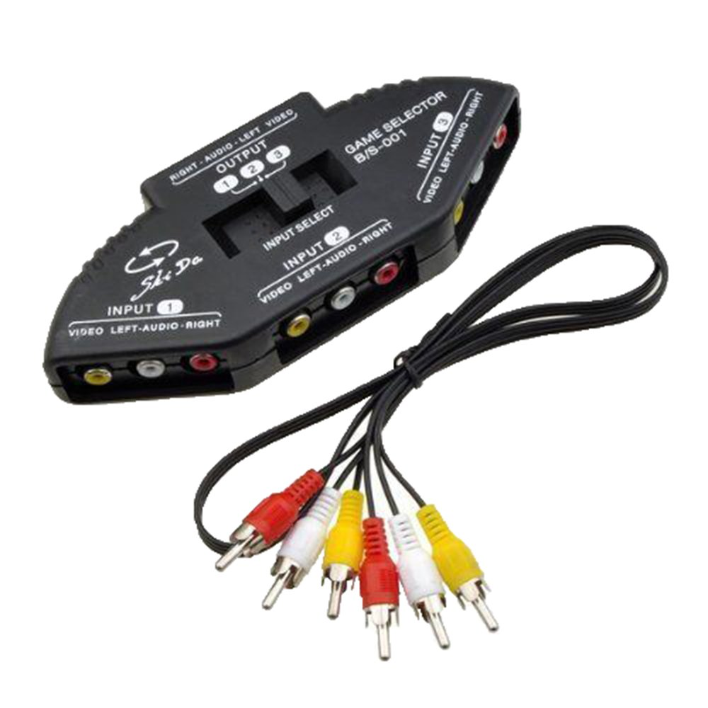 Amazon.com: NiceEshop 3 in 1 Composite RCA AV Audio Video Selector ...