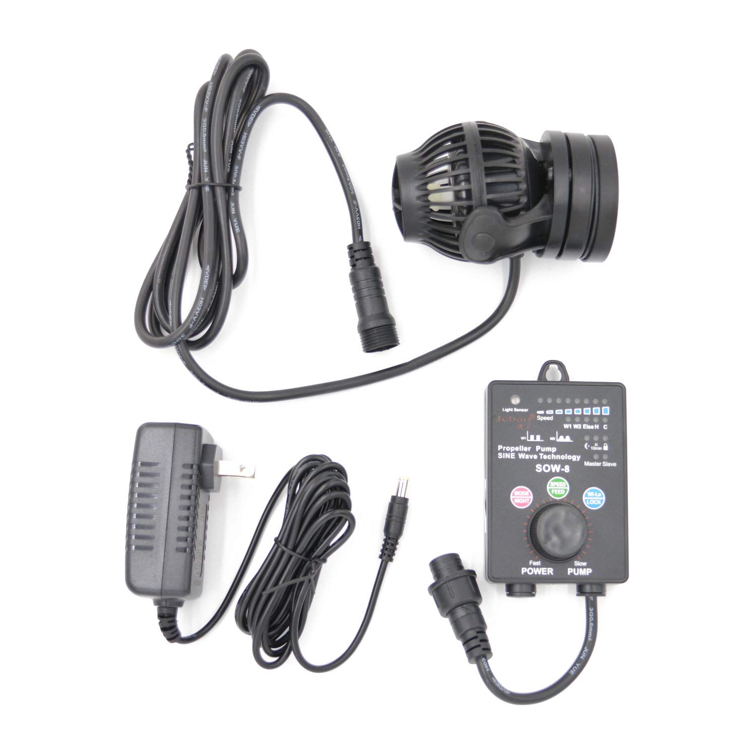 Amazon.com : Jebao SOW Wave Maker Flow Pump with Controller for Marine Reef Aquarium (SOW-15) : Pet Supplies