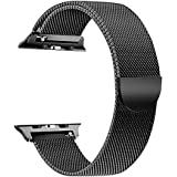 Milanese Loop for Apple Watch 40mm 38mm, Stainless Steel Alloy Replacement Watch Band for iWatch Series 4/3/2/1 (Black)