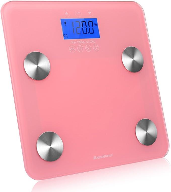 Báscula electrónica Excelvan análisis grasa corporal pantalla LCD ...
