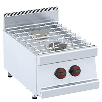 Macfrin 30152 Cocina de Sobremesa a Gas 2 Fuegos 9 Kw