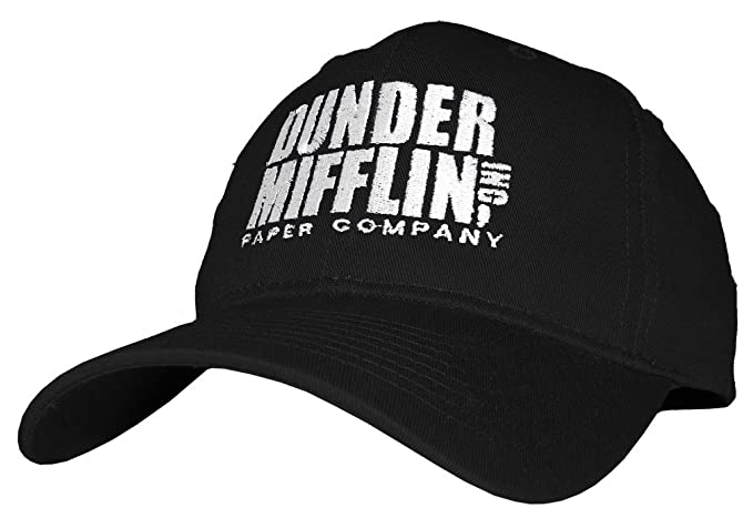 Dunder Mifflin Paper Company INC - Embroidered Cotton Twill Baseball Cap Hat