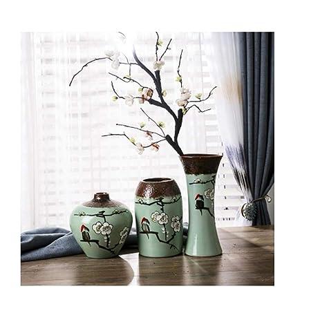 OHGQY Vaso in Ceramica Decorazione Vaso Secco Tre Pezzi ...