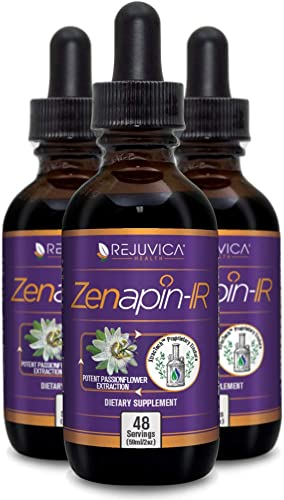 Zenapin IR - All-Natural Liquid Calming Remedy That Works Fast - 2X Absorption - Kava Kava, Ashwagandha, Passionflower, B-Vitamins and More